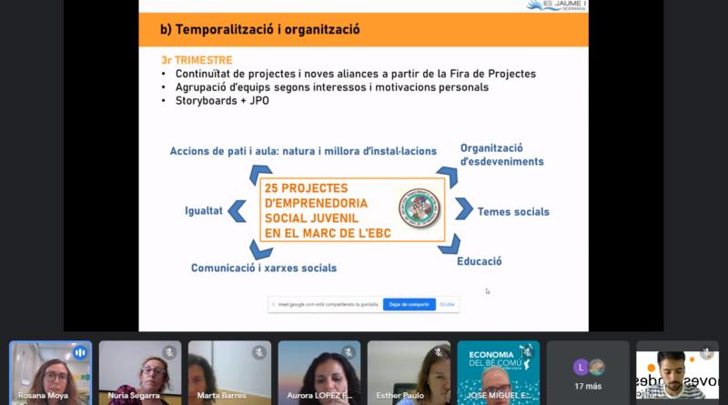 """Més de 30 professores i professors participen al Webinar """"Recull de Bones Pràctiques Educatives d'Emprenedoria Social Juvenil en ESO"""""""